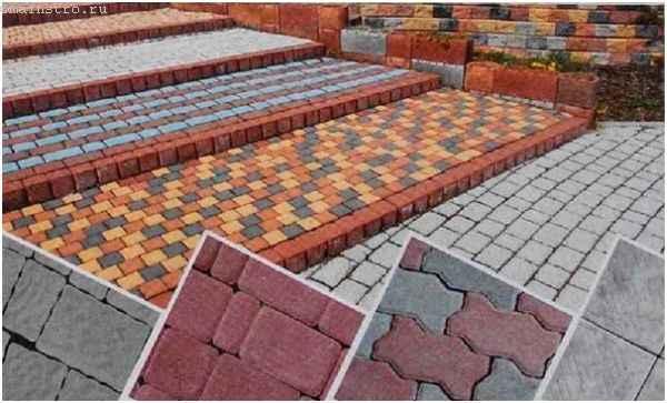 Разновидность плитки для садовой дорожки