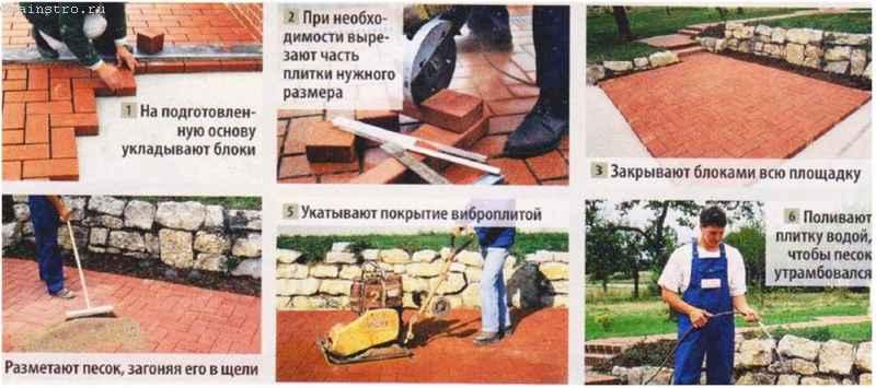 Садовые дорожки: фото инструкция монтажа