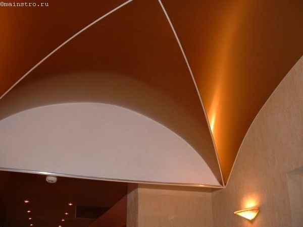 Сводчатые натяжные потолки с 3Д эффектом