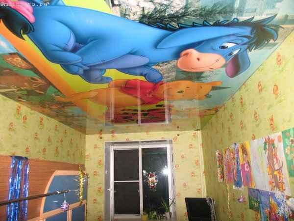 Фото: натяжные потолки в детской с фотопечатью