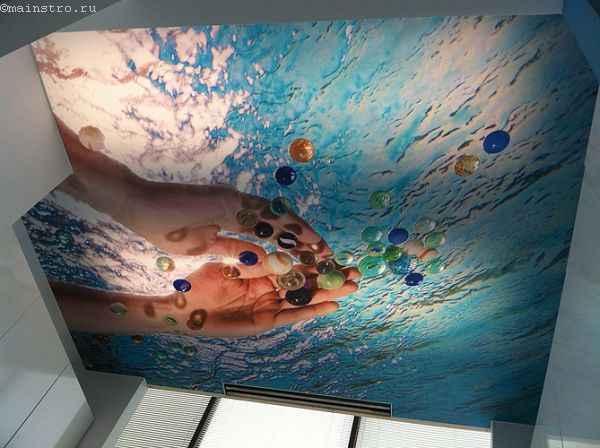Натяжные потолки с печатью трёхмерного изображения