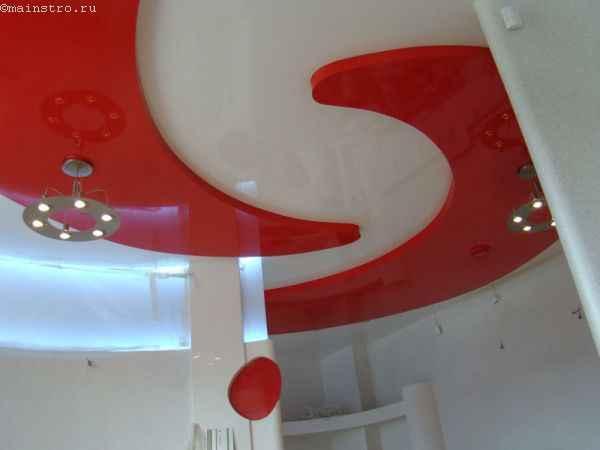 """Фото: 2-х уровневые натяжные потолки """"Инь-Янь"""""""