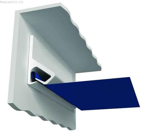 Кулачковое соединение натяжного потолка