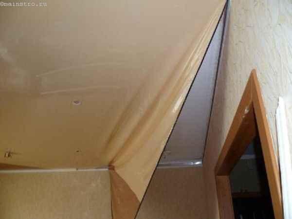 Демонтируем натяжной потолок
