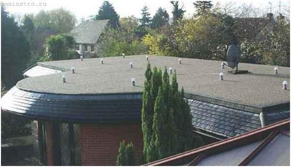 Плоская крыша с аэраторами