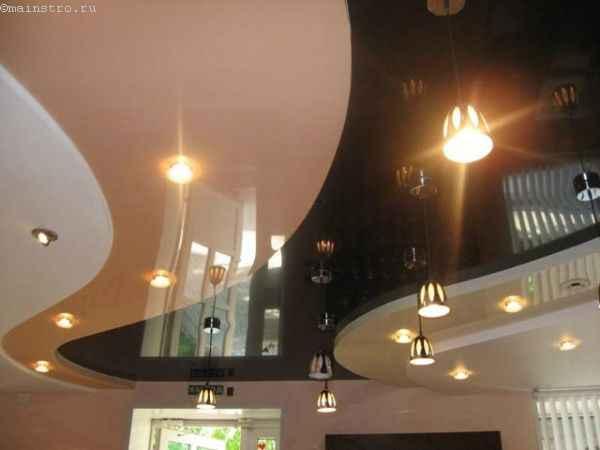 Оригинальные многоуровневые натяжные потолки