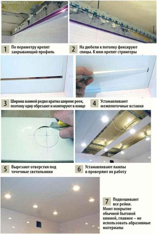 Устанавливаем реечный потолок - инструкция
