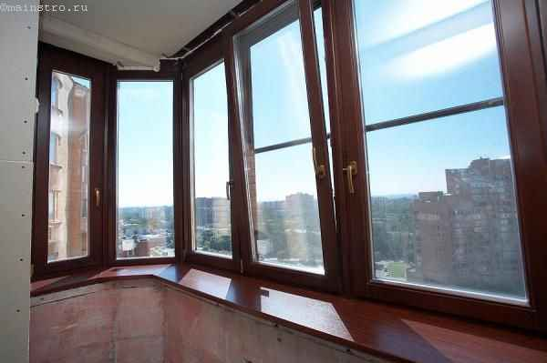 Евроокна для остекления балконов и лоджий в полной комплектации