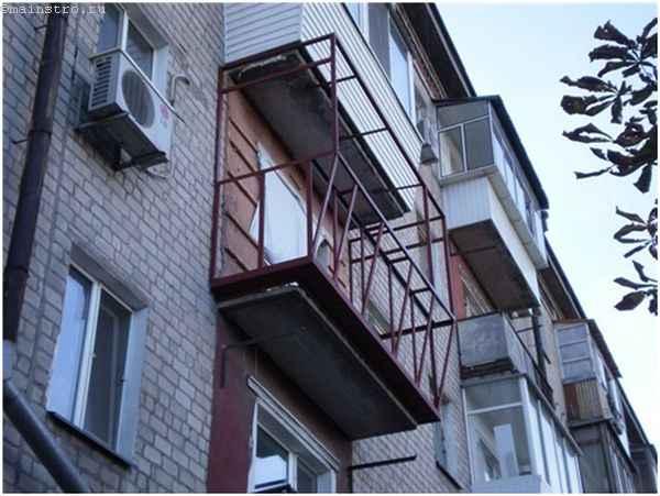 Ремонт балкона с выносом