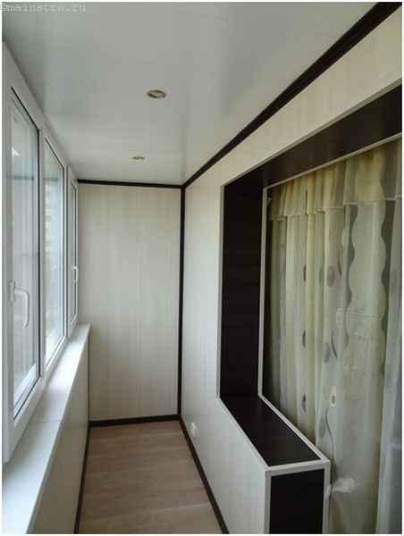 Красивый ремонт балкона