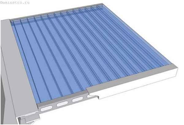 Крыша для балкона из сотового поликарбоната