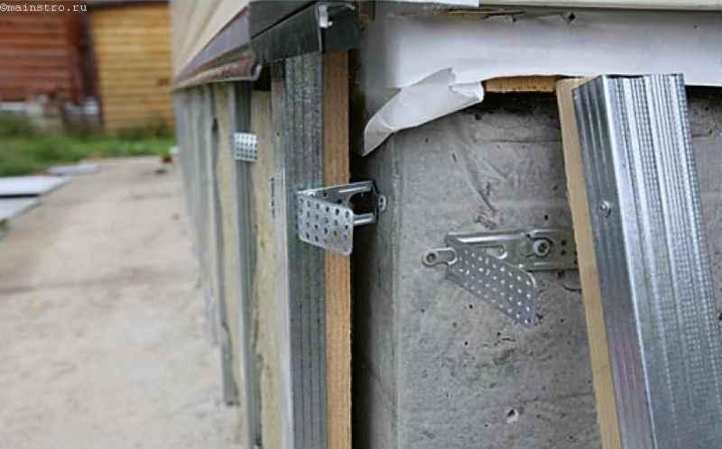Обрешётка для навески шифера под цоколь