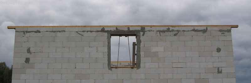 Крепление мауэрлата - фото готового здания