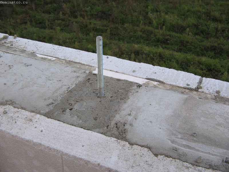 Заделка крупных раковин в бетоне раствором