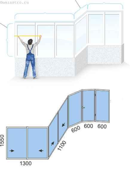 Расчёт стоимости остекления балкона и лоджии