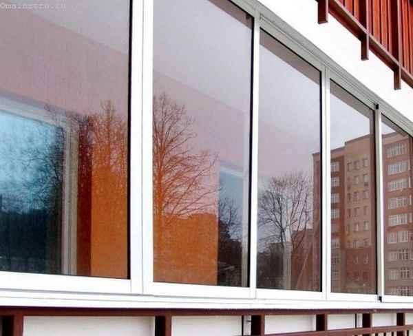 Фото остекления балкона или лоджии в алюминиевом профиле