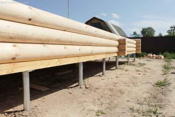 Фото винтовых свай для деревянного дома