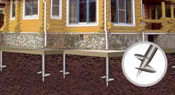 Винтовые сваи в грунте - проект дома