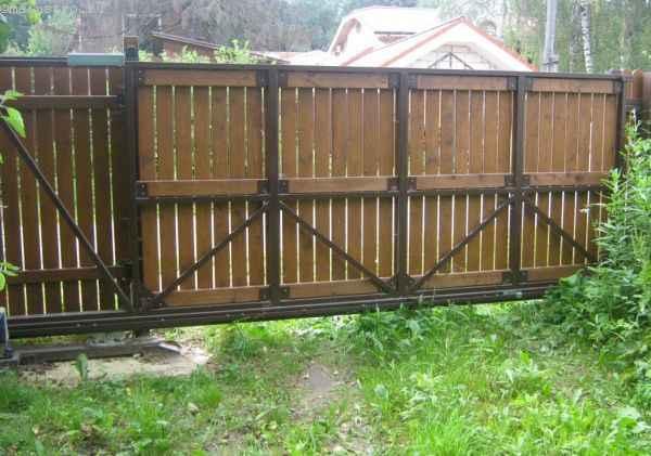 Каркас рамы откатных ворот