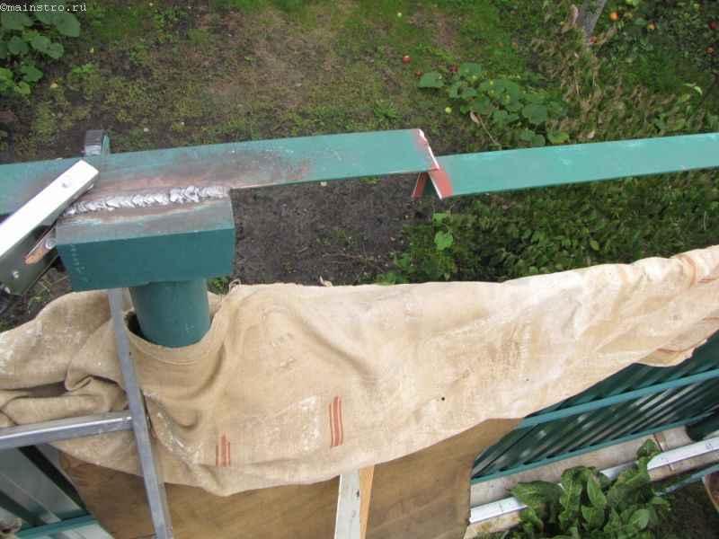 Сварка металла под навес для откатных подвесных ворот