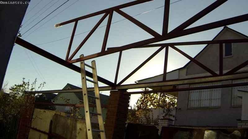 Монтаж ферм для откатных подвесных автоматических ворот