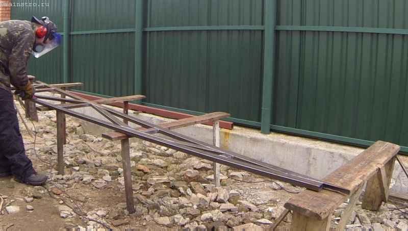 Зачищаем новую ферму для откатных подвесных ворот