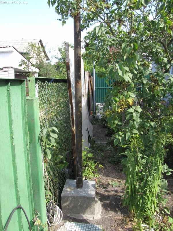 Фундамент столба под откатные подвесные ворота