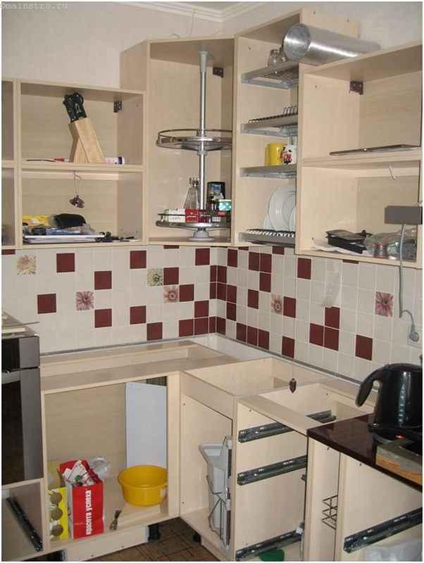 Несобранная мебель для кухни
