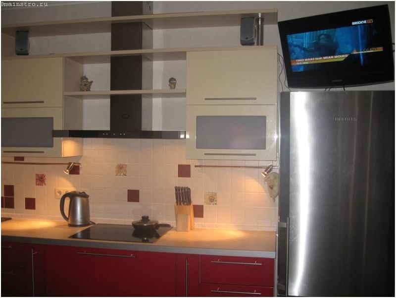 Контрастная мебель для кухни из МДФ