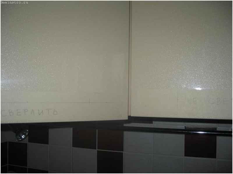 Монтаж кухонных фасадов из МДФ