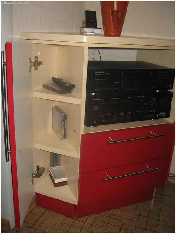 Угловая тумба из МДФ на кухне