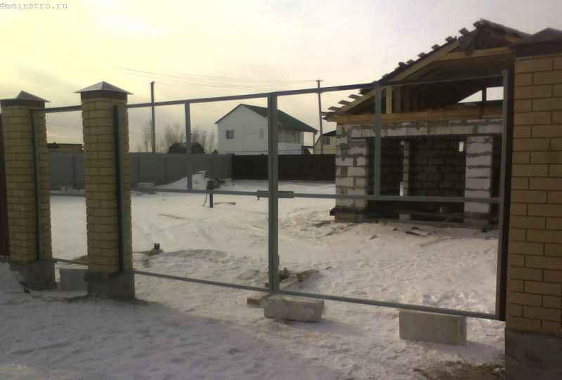 Изготавливаем каркас для ворот и калитки